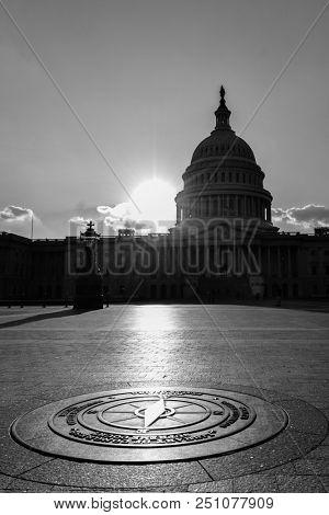 Silhouette of United States Capitol - Washington D.C. United States of America