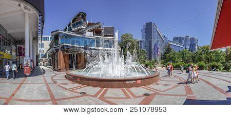 Sochi, Russia - June 16, 2018: Area At The Singing Fountain.