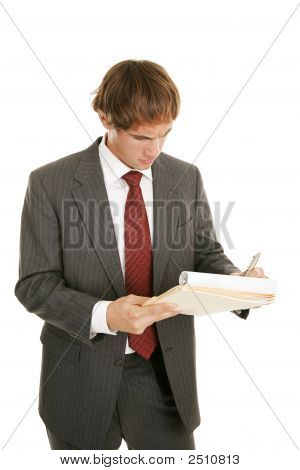 Young Businessman Concentration