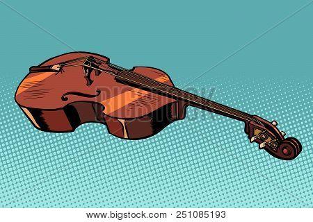 Viola Musical Instrument. Violin Or Cello. Pop Art Retro Vector Illustration Kitsch Vintage