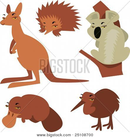 australian animals set