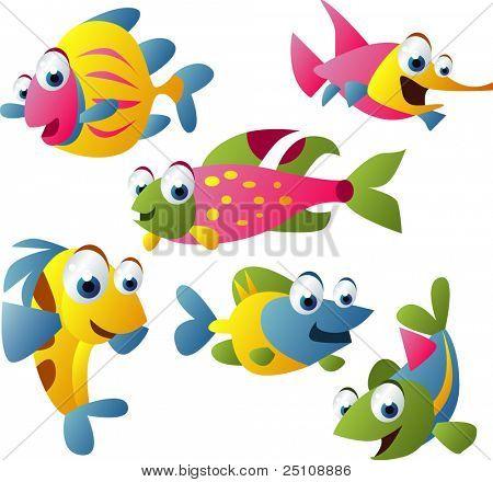 vector animal set 20: fish