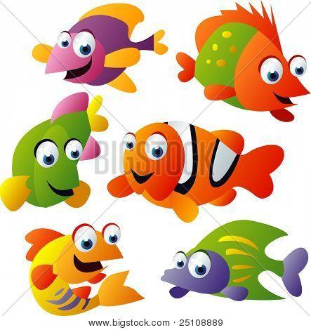 vector animal set 25: fish