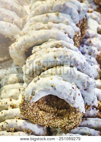 Koulouri Thessalonikis, Typical Greek Sesame Sweet.