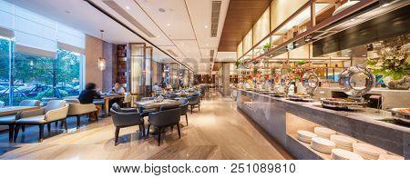 interior of buffet restaurant