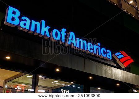 Indianapolis - Circa July 2018: Bank Of America Bank And Loan Branch. Bank Of America Is Also Known