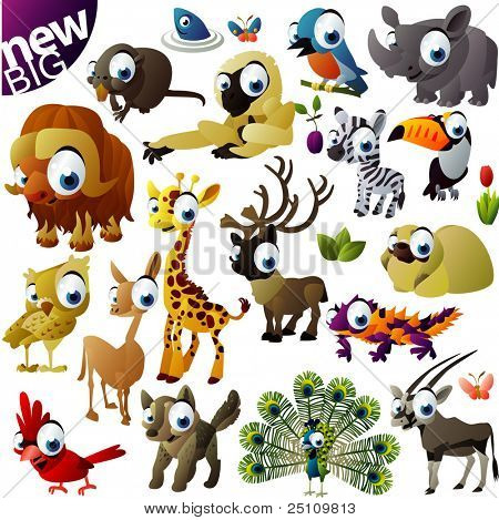 New extra big vector animal set