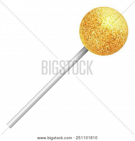 Round Sweet Lollipop. Realistic Illustration Of A Candy.
