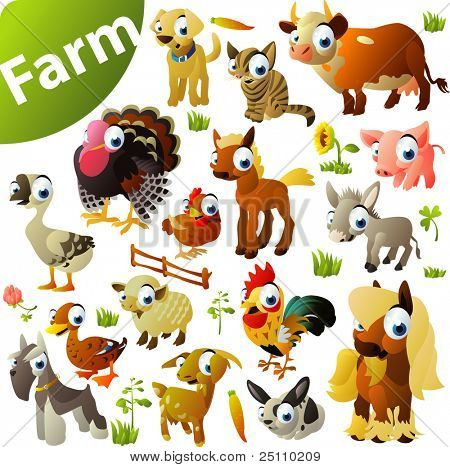 big set of farm animals