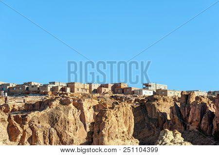 Acoma Pueblo (sky City), Native American Reservation Atop Mesa Near Albuquerque, New Mexico