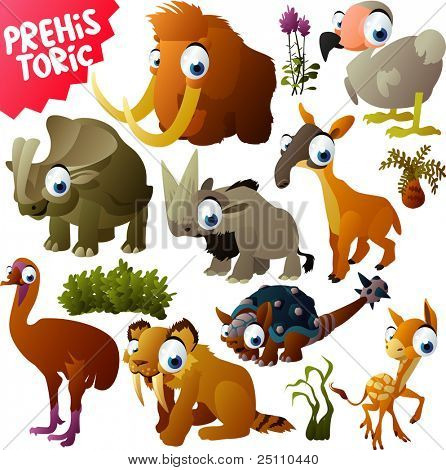 vector prehistoric animals