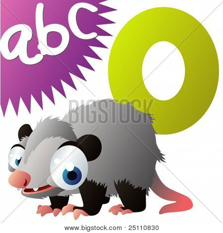O is for Opossum