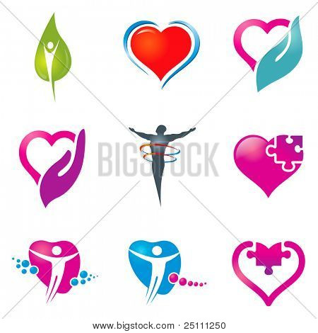 Various colorful health care icons for your  designs.