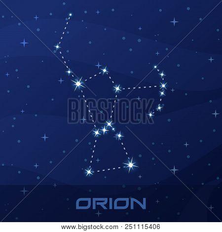 Constellation Orion, Hunter, Night Star Sky Poster, Flyer Advertisement