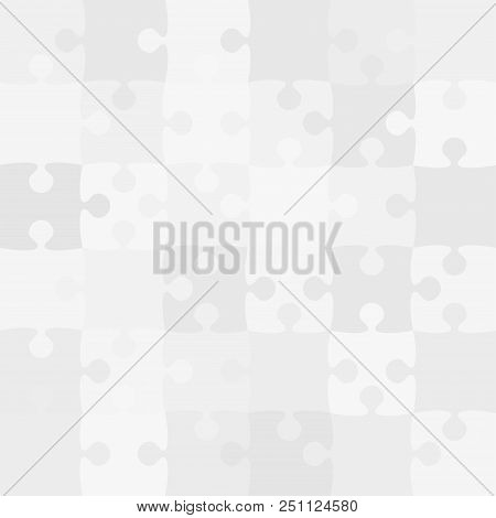 36 Grey White Background Puzzle. Jigsaw Puzzle Banner. Vector Illustration Template Shape Abstract B