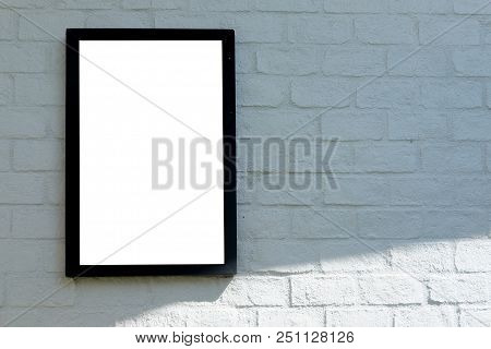 Frame On The Wall. Simple Empty Framing For Your Business Design