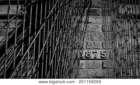 The Date, 1875, On The Brooklyn Bridge In New York City.