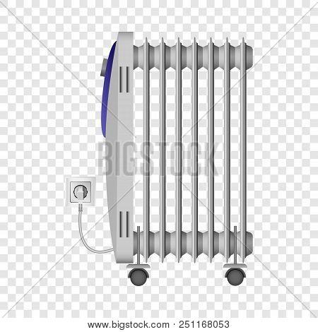 Portable Heater Mockup. Realistic Illustration Of Portable Heater Vector Mockup For On Transparent B