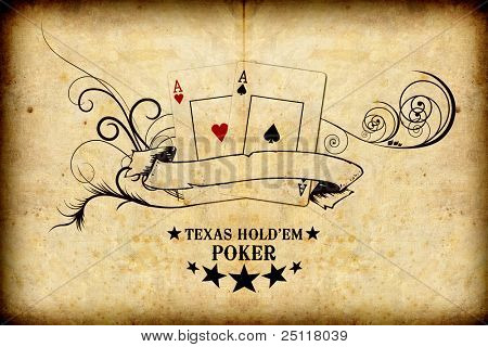 Poker grunge background