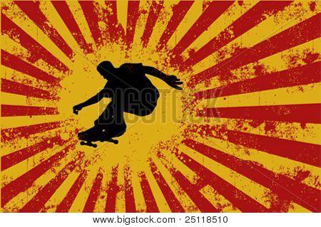Skate Sport vector Grunge