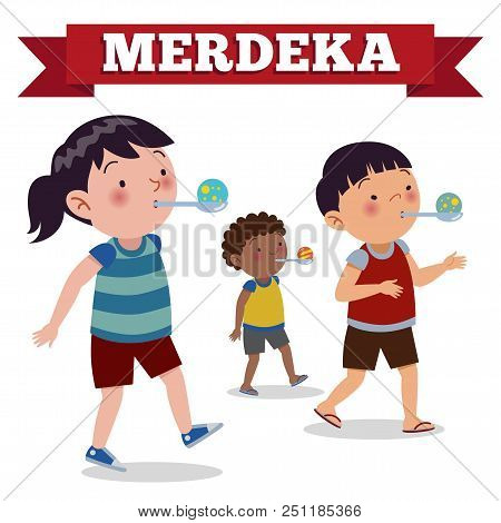 Indonesia Traditional Special Games During Merdeka Day Indonesian Independence Day. Race Bring Marbl