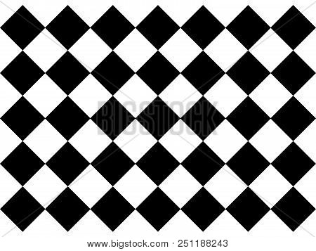 Black And White Beautiful Checkered Floor Tiles