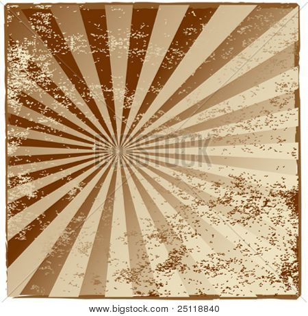 Grunge vector rays