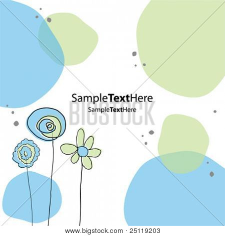 Vector pastel background card 2