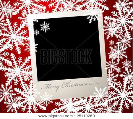 Vector Christmas photo card