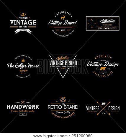 Vintage Brand Logo Design. Vintage & Retro Logo Design