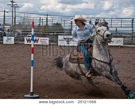 Coulee City, Wa - April 16:  Teen Rodeo Competition