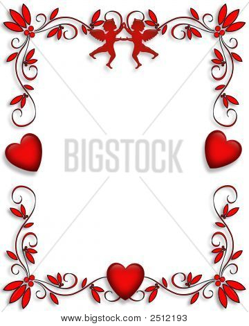 Valentines Day Border Frame