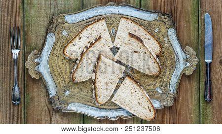 Slices Of Pain Au Levain Or French Sourdough Bread