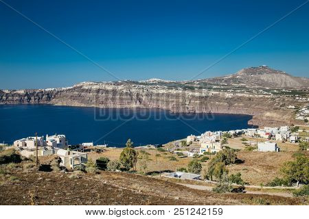 Akrotiri is a village in the Cyclades, located on the main island Thira (or Thera)  at Santorini, Greece.