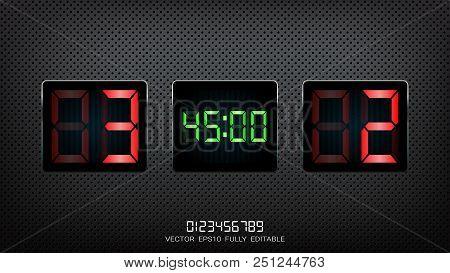 Digital Timing Vector & Photo (Free Trial) | Bigstock