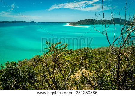 Whitehaven Beach In The Whitsundays, Turquoise Ocean And Sand Bars