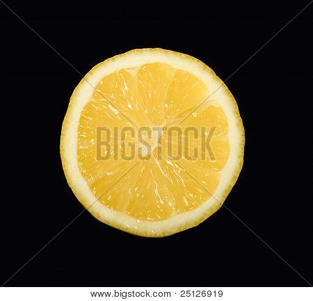 Half Lemon Isolated On Black