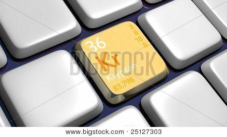 Keyboard (detail) With Krypton Element