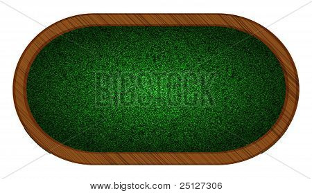 Playing Field In Poker. Vector Illustration. Best Choice