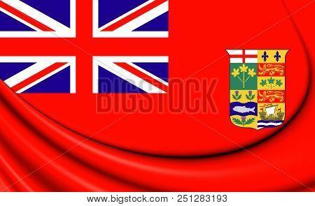 3d Canadian Red Ensign (1868-1921). 3d Illustration.