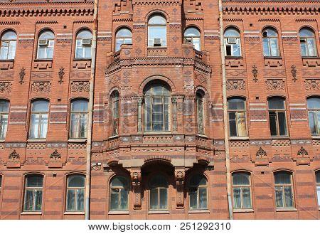 Historic Building Facade Architecture, Classic Architecture Ornamental Facade Of Old Historical Hous