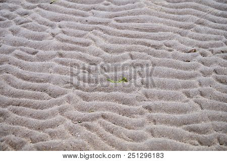 Beach Sand With Bumpy Pattern During Low Tide Close Up