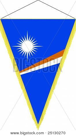 Vector Image Of A Pennant With The National Flag Of Marshall Islands