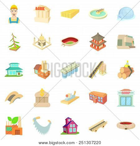 Entity Icons Set. Cartoon Set Of 25 Entity Vector Icons For Web Isolated On White Background