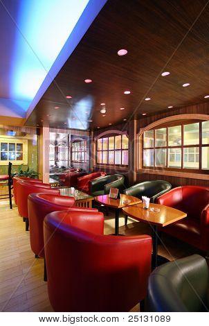 Modern interior of a cafe