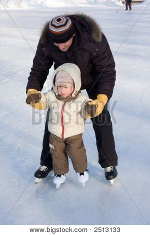 First Steps On The Rink