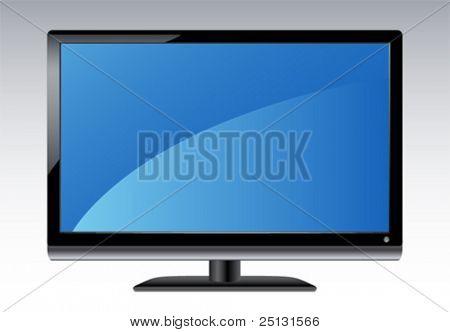 Plasma LCD HDTV Display in Vector format