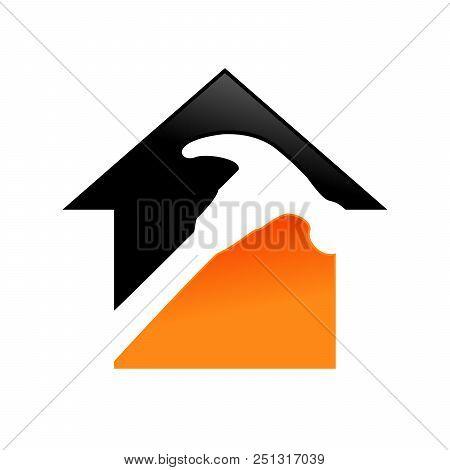 Home Repair Service Vector Symbol Graphic Logo Design Template