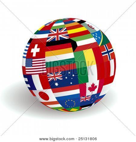 VECTOR Global world flags