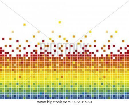 Pixel mozaïek met kleur voor de kleurovergang patroon